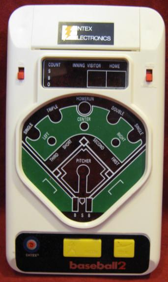 entex baseball 2 handheld electronic game console front