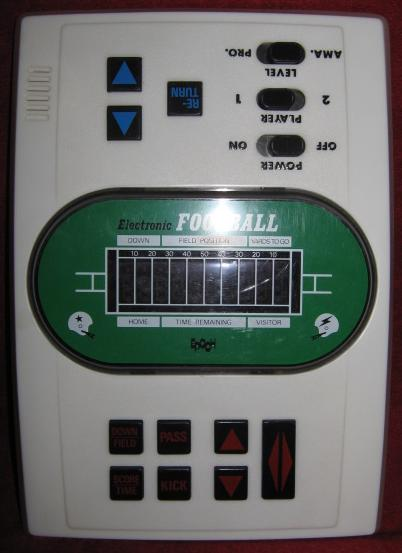 EPOCH PRO BOWL FOOTBALL handheld electronic game console front