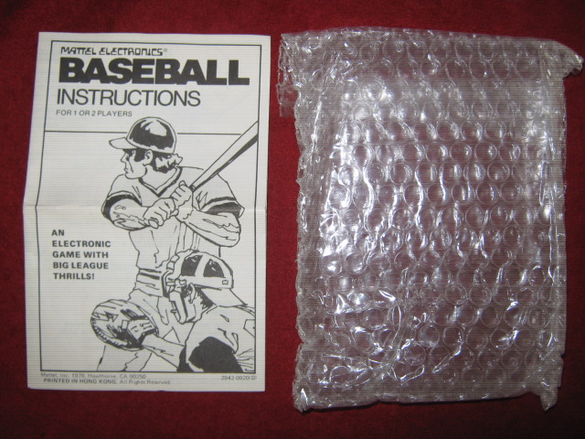 mattel baseball handheld electronic game parts