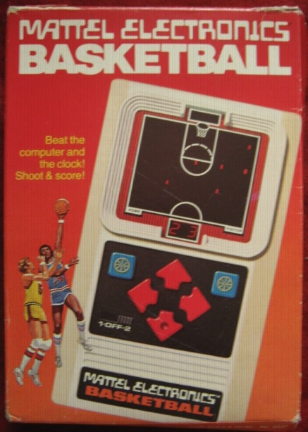 mattel basketball handheld electronic game box front