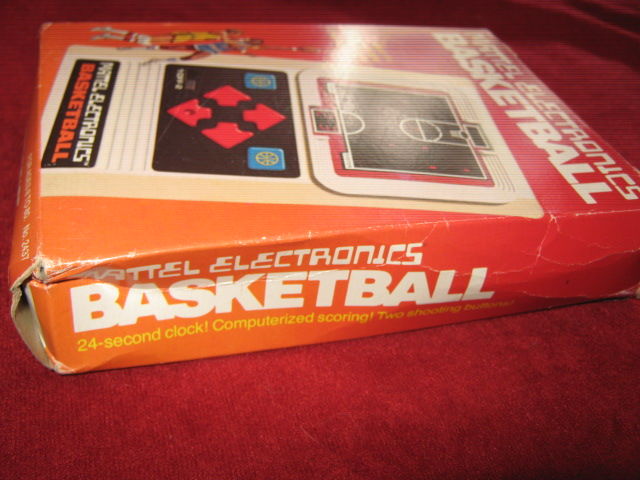mattel basketball handheld electronic game box side