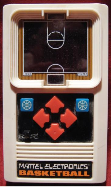 mattel basketball handheld electronic game console front