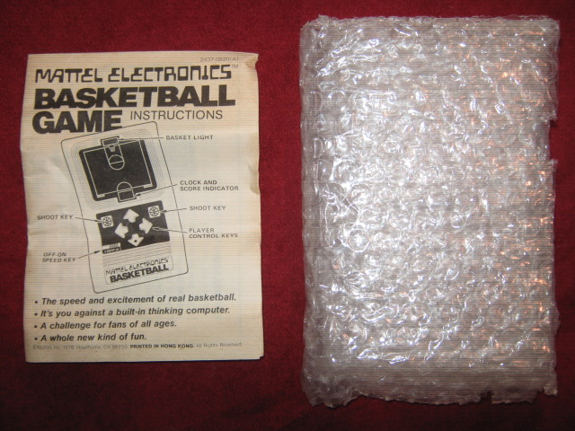 mattel basketball handheld electronic game parts