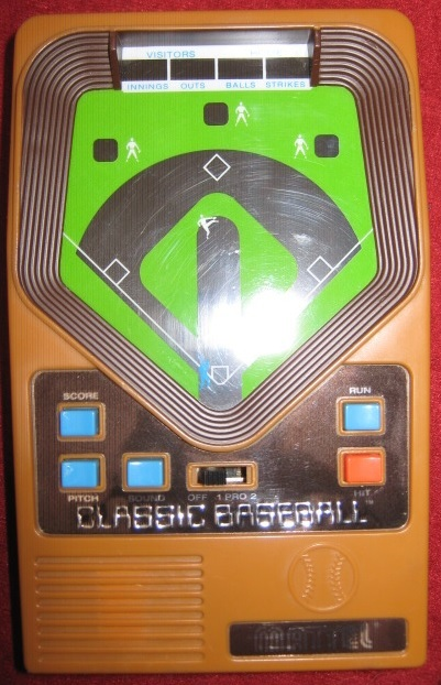 mattel BASEBALL handheld electronic game console front