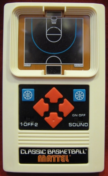 mattel classic basketball handheld electronic game console front