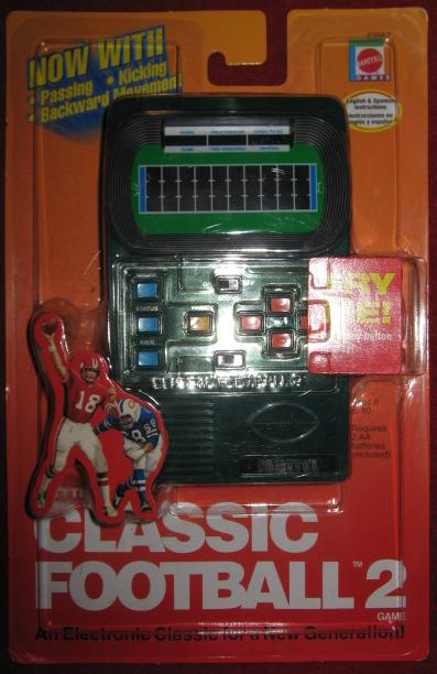 Mattel Classic Football 2 Handheld Electronic Game NEW