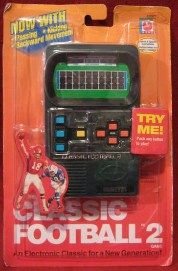 mattel CLASSIC FOOTBALL 2 handheld electronic game sealed