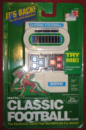 Mattel Classic Football Handheld Electronic Game NEW