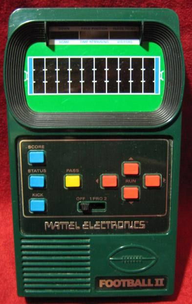 Mattel Football 2 Handheld Electronic Game
