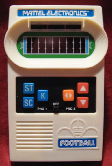 mattel football handheld electronic game console front