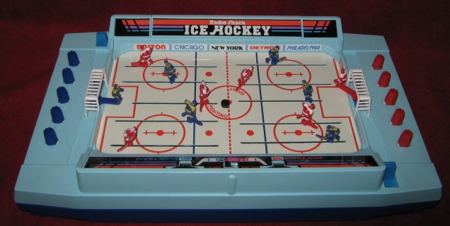 radio shack ice hockey handheld electronic game console front