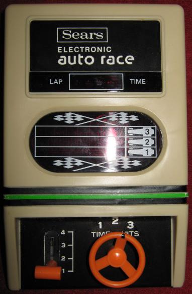 sears auto race handheld electronic game console front