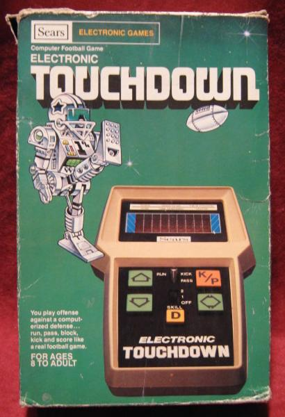 sears touchdown handheld electronic game box front