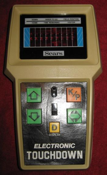 sears touchdown handheld electronic game console front