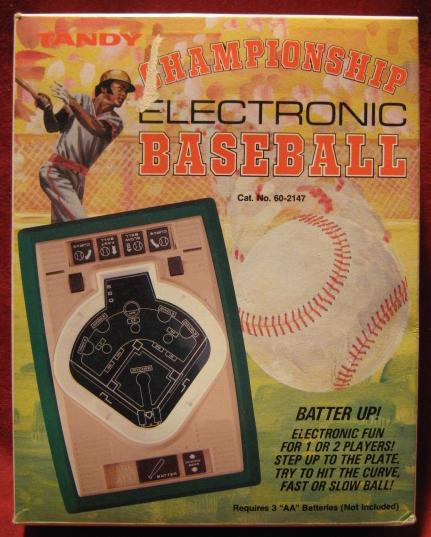 TANDY CHAMPIONSHIP BASEBALL handheld electronic game box front