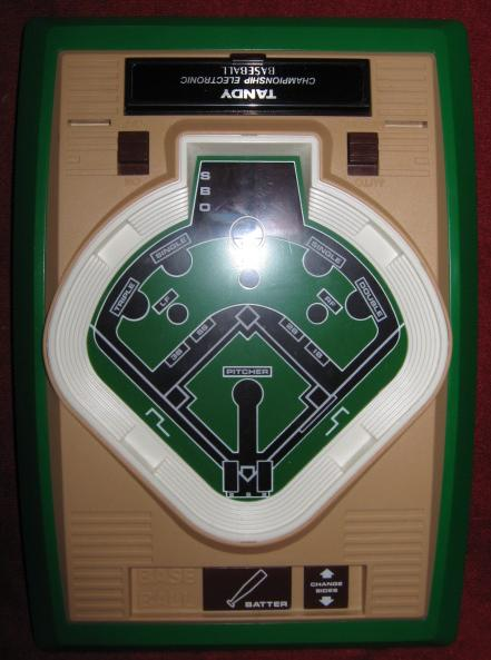 TANDY CHAMPIONSHIP BASEBALL handheld electronic game console front