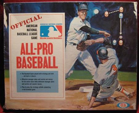 IDEAL ALL PRO BASEBALL GAME BOX