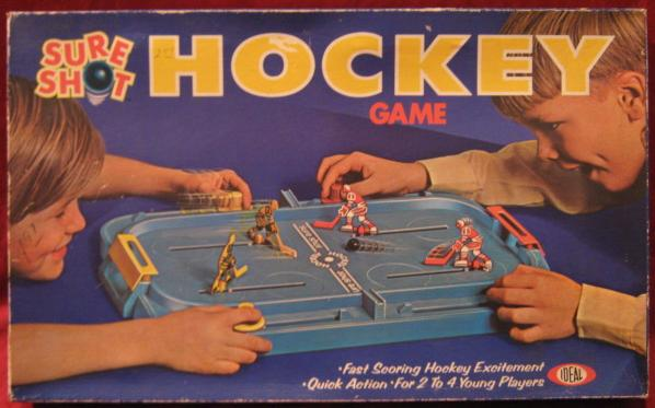 ideal SURE SHOT HOCKEY game 1972