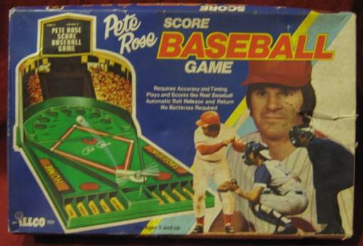 illco pete rose score baseball game box