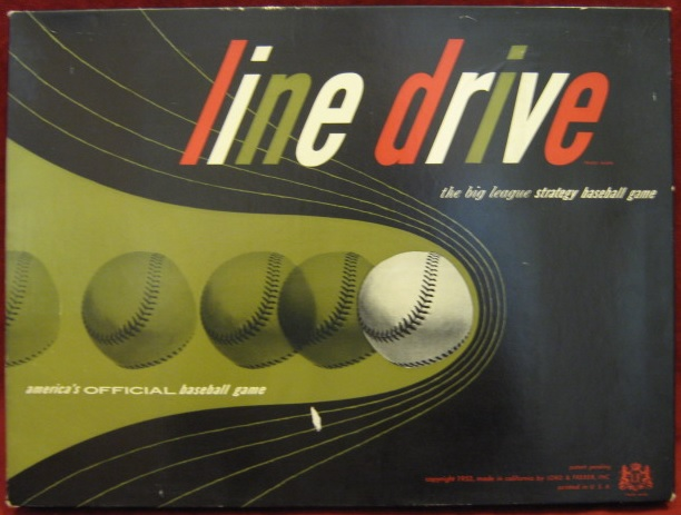 Lord And Freber LINE DRIVE BASEBALL Game 1953