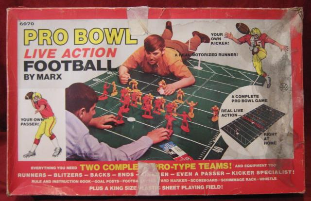 marx Pro Bowl live action football game box 1969