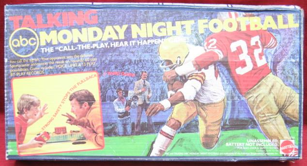 mattel talking football game box 1977
