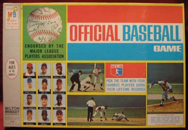 milton bradley official baseball game