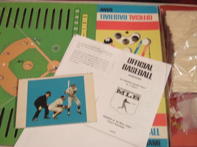 milton bradley official baseball game parts 1969