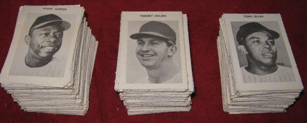 milton bradley official baseball game card 1969