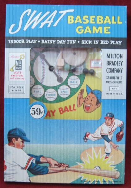 milton bradley swat baseball game box