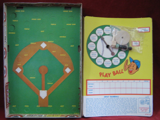 milton bradley swat baseball game parts