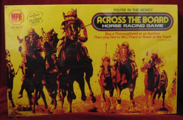 mph across the board horse racing game box