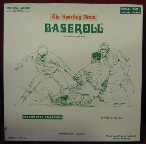 Mundo BASEROLL Baseball Game 1986