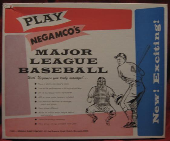 Negamco Baseball games