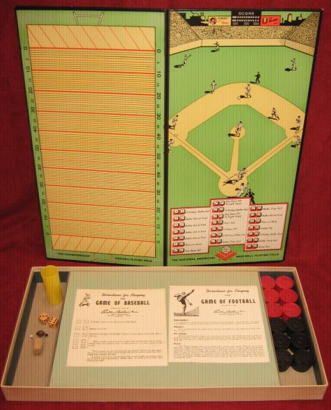 parker brothers baseball football checkers game parts
