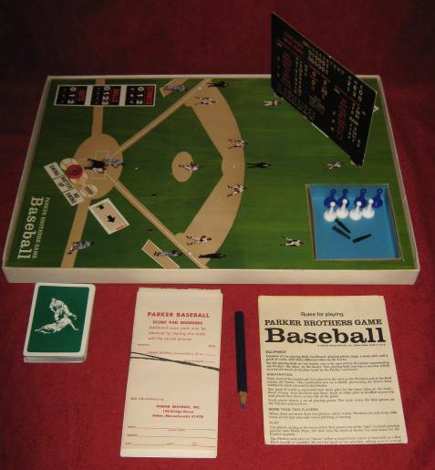 parker brothers baseball game parts