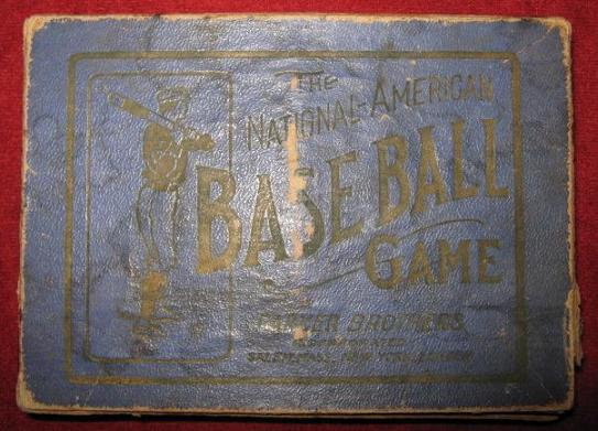 parker brother National-American Baseball Card Game box