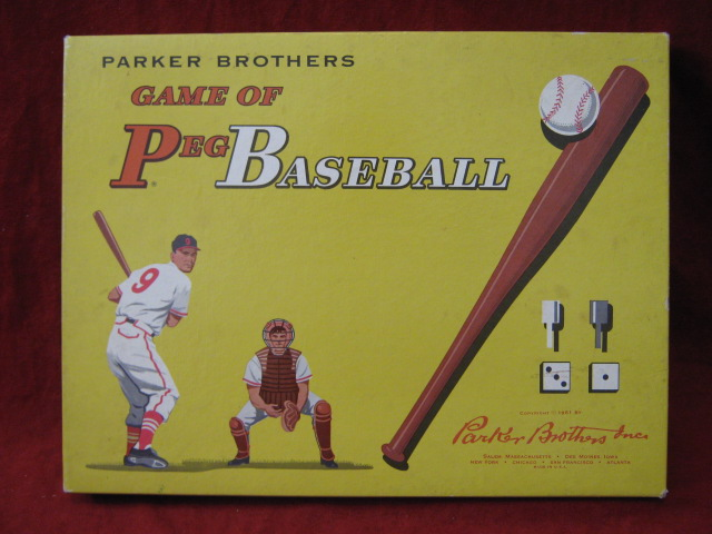 PARKER BROTHERS PEG BASEBALL Game