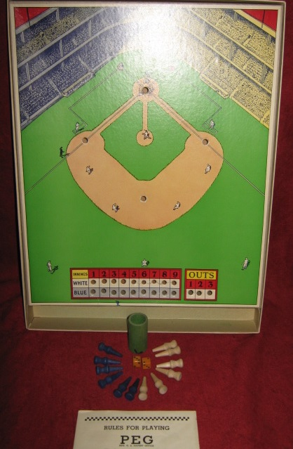 parker brothers peg baseball game parts