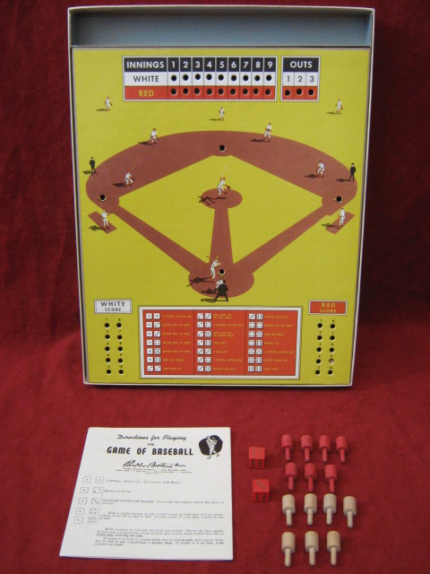 parker brothers peg baseball game parts 1961