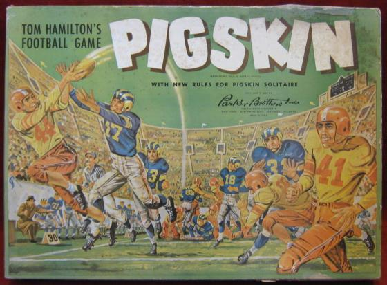 parker brothers tom hamilton's pigskin football game box