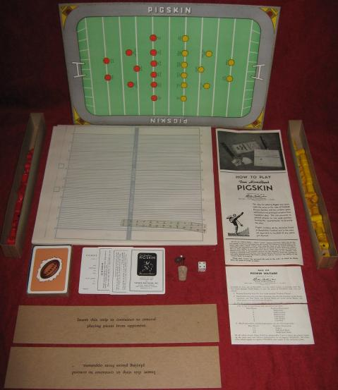 parker brothers tom hamilton's pigskin football game parts