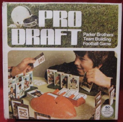 parker brothers pro draft football game box
