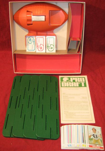 parker brothers pro draft football game parts
