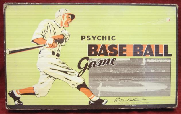 parker brothers psychic baseball game box 1935