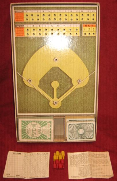 parker brothers psychic baseball game parts 1935