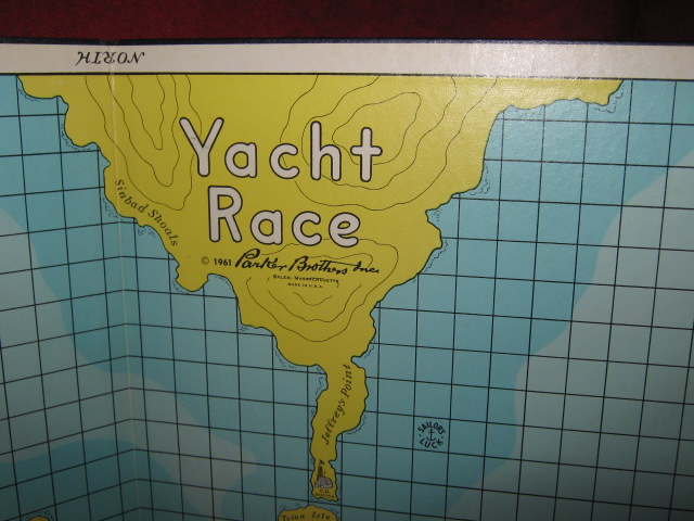 parker brothers yacht race game parts