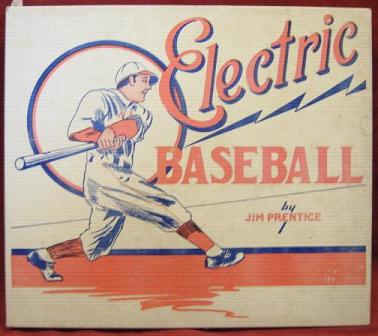 Jim Prentice ELECTRIC BASEBALL Game 1950s