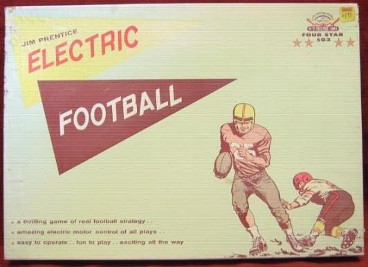 jim prentice electric football game box 1960