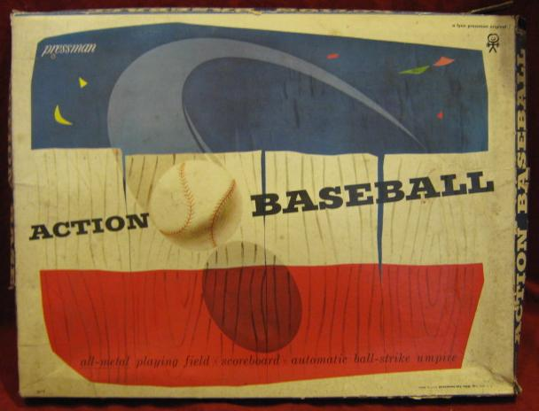 pressman action baseball game box 196? Edition